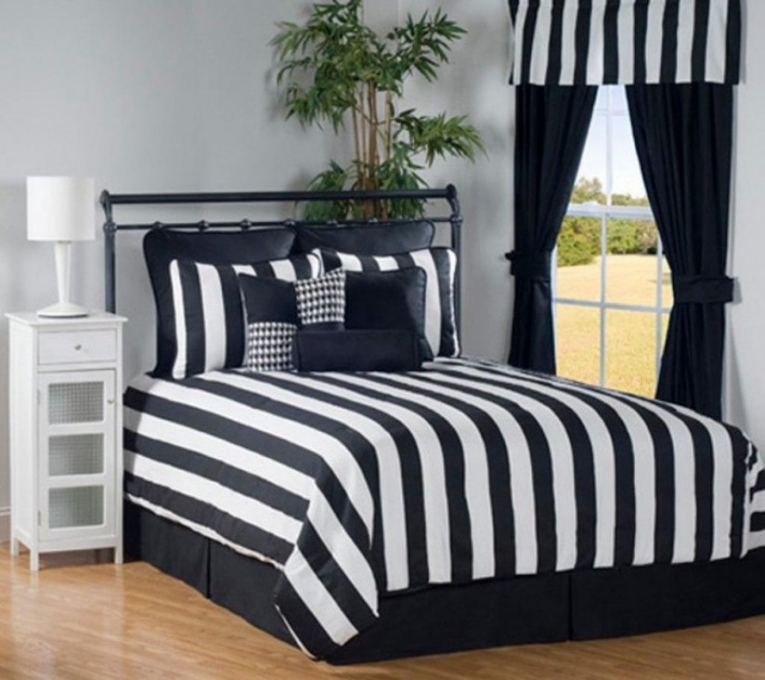 Black white bedding